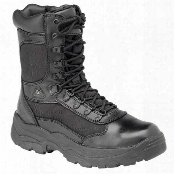 "Rocky 8"" Fort Hood Boots, Men's, Black, 10.5, Medium - Black - Male - Included"