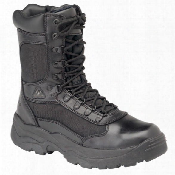 "Rocky 8"" Fort Hood Size-zip Boots, Men's, Black, 10.5, Medium - Black - Male - Included"