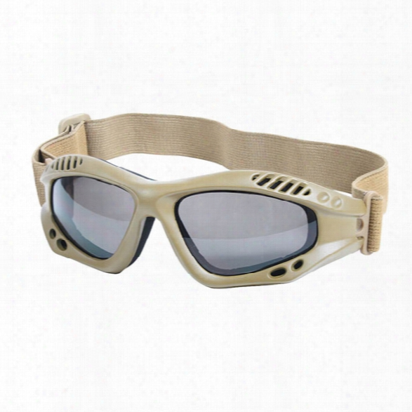 Rothco Ventec Tactical Goggles, Coyote - Smoke - Male - Included