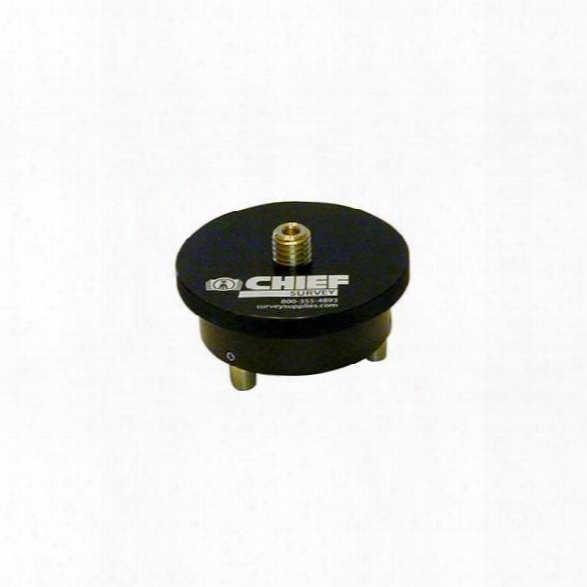Seco Tribrach Adapter Rotating - Black - Unisex - Included