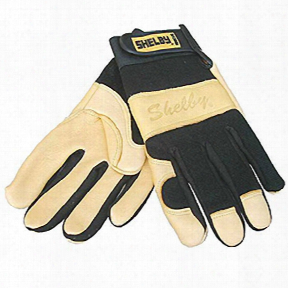 Shelby Glove Goatskin Rescue Glove, Tan/black, Large - Black - Unisex - Included