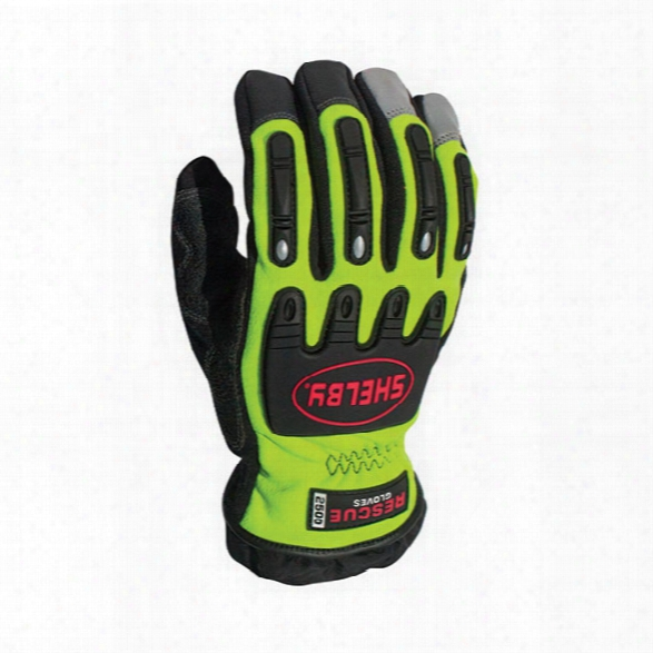Shelby Glove Xtrication Gloves, Chartreuse/black, 2x - Black - Unisex - Included