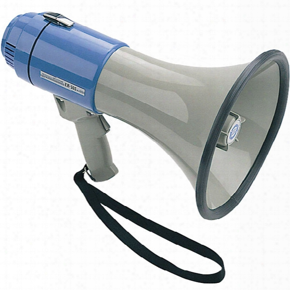 Sho-me Megaphone, W/ Built-in Siren - Clear - Unisex - Included