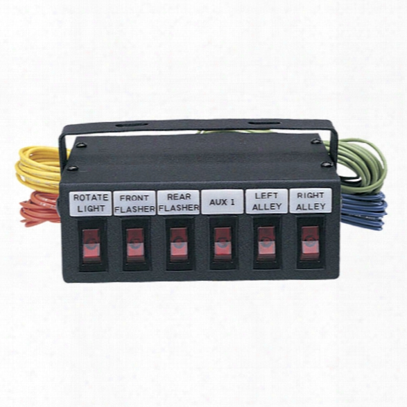 Sho-me Switch Box (6) 20a Switches / Backlit Legends - Male - Included