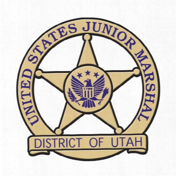 Stoffel Seals Circle W/ Star Plastic Badge, Black W/ Gold Trim, Blue Imprint, Clip, 1000-2499 - Black - Male - Excluded