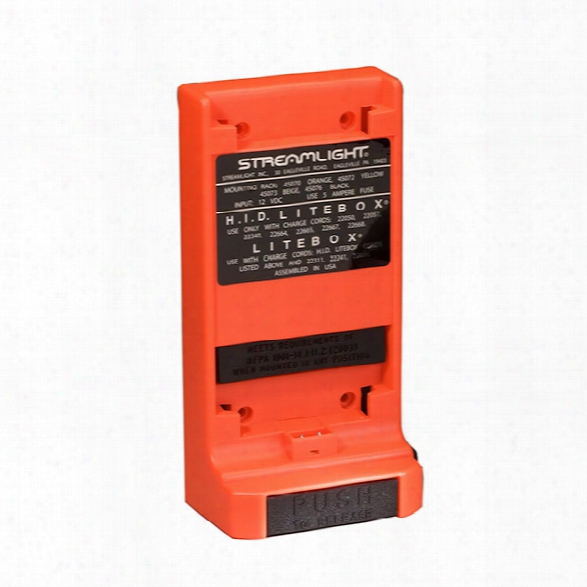 Streamlight Mounting Rack For Litebox & Firebox, Orange (charge Cord Not Included) - Orange - Unisex - Included