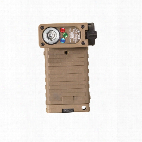 Streamlight Sidewinder® Tactical Hand-held Non-rechargeable Flashlight, Military Model, White/red/blue/ir-iff Leds, Coyote Tan - White - Male - Included