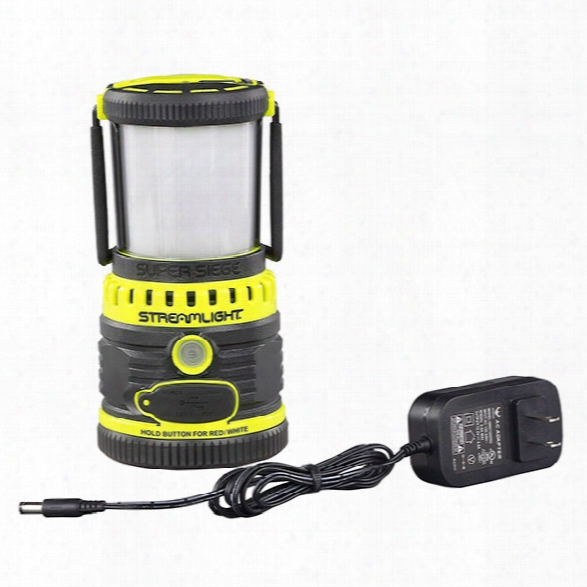 Streamlight Super Siege Rechargeable Scene Light/work Lantern W/ Usb Charger, 120v Ac, Yellow - Yellow - Male - Included