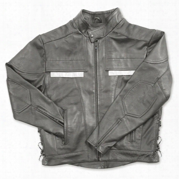 Taylors Leatherwear Air Vent Leather Jacket, Black, 2x Long - Black - Male - Included