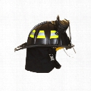 Fire-Dex Fire Helmet Traditional Deluxe With Goggles, Black - black - male - Included