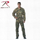 Rothco Flightsuit, Woodland Digital Camo, Large - Camouflage - male - Included