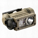 Streamlight Sidewinder Compact II, Military, W/R/B/IR LED, Includes Elastic Headstrap & Helmet Mount, 1-CR123,1-AA Litium, or 1-AA - White - male - Included