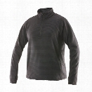 Tru-Spec 24-7 Zip Thru Grid Fleece Pullover, Black, 2X - Black - male - Included
