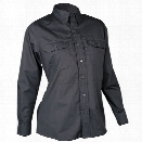 Tru-Spec Womens 24-7 Series Long Sleeve Dress Shirt, Black, 2X-Large - Black - female - Included