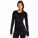 Under Armour Womens Base 3.0 Crew, Black/Cortez, X-Large - Black - female - Excluded