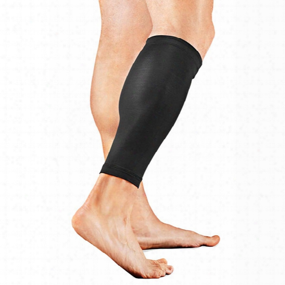Tommie Copper Unisex Vitality Calf Sleeve, Black, Md - Copper - Male - Included