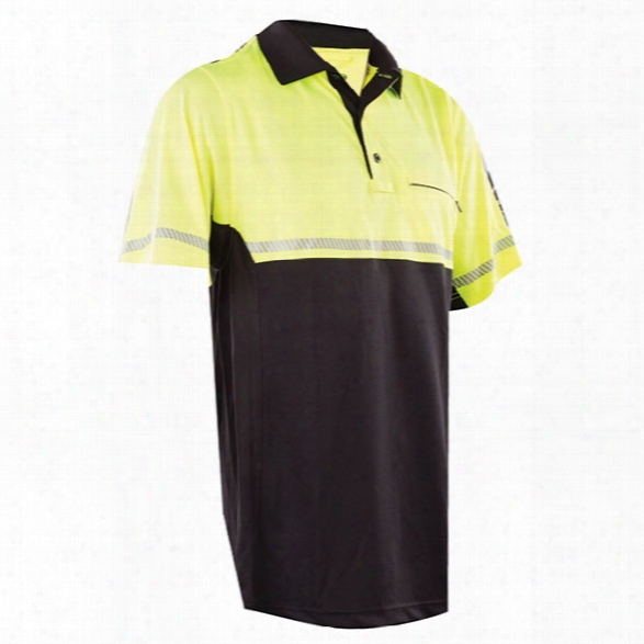 Tru-spec 24-7 Series Bike Patrol Polo, Hi-vis Yellow, 2x-large - Yellow - Male - Included