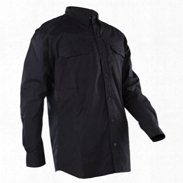Tru-spec 24-7 Series Ss Dress Shirt, Black, 2x-large Regular - Black - Male - Included