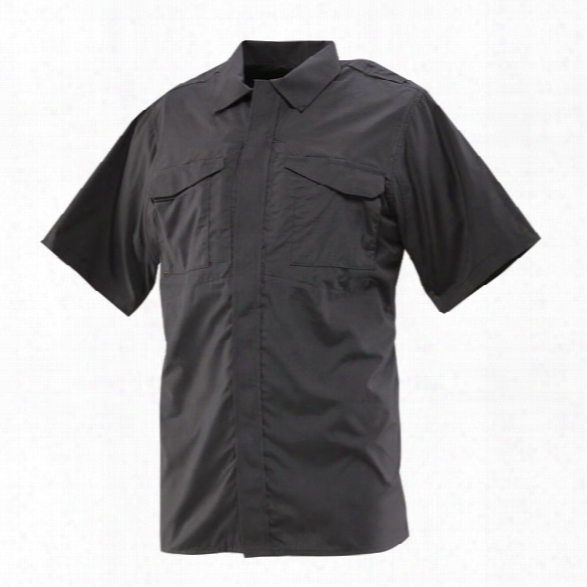 Tru-spec 24-7 Ultralight Ss Uniform Shirt, Black, 2x - Black - Male - Included