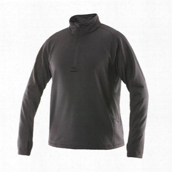 Tru-spec 24-7 Zip Thru Grid Fleece Pullover, Black, 2x - Black - Male - Included