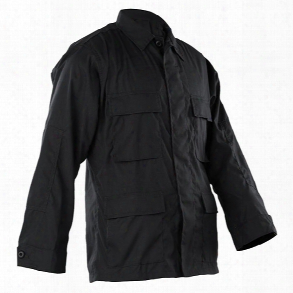 Tru-spec Classic Bdu Poly/cotton Rs Coat, Black, 2x-large Long - Black - Male - Included