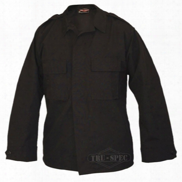 Tru-spec Tactical Ls Poly/cotton Rs Shirt, Navy, 2x-large Long - Black - Male - Included