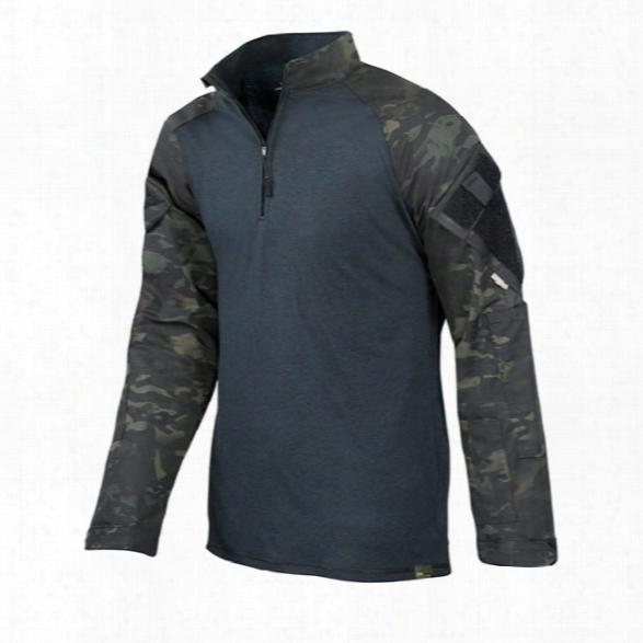 Tru-spec Tactical Response Uniform Combat Shirt, Multicam Black, 2x-large Long - Black - Male - Icluded