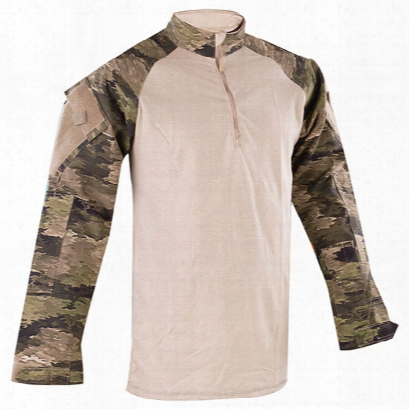 Tru-spec Tru 1/4 Zip Cordura Combat Shirt, A-tacs Ix, 2x-large Long - Camouflage - Male - Included