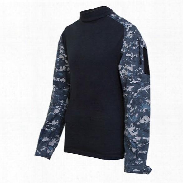 Tru-spec Tru Combat Shirt, 60/40 Cotton Ripstop, Black/black, Xx-large - Black - Male - Included