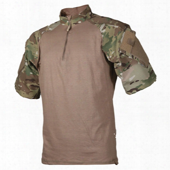 Tru-spec Tru Ss 1/4 Zip Combat Shirt, Multicam-coyote, 2x-large Regular - Camouflage - Male - Included