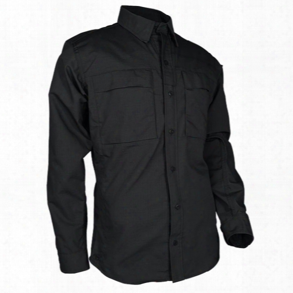 Tru-spec Urban Force Tru Dress Shirt, Black, 2x-large Long - Black - Male - Included