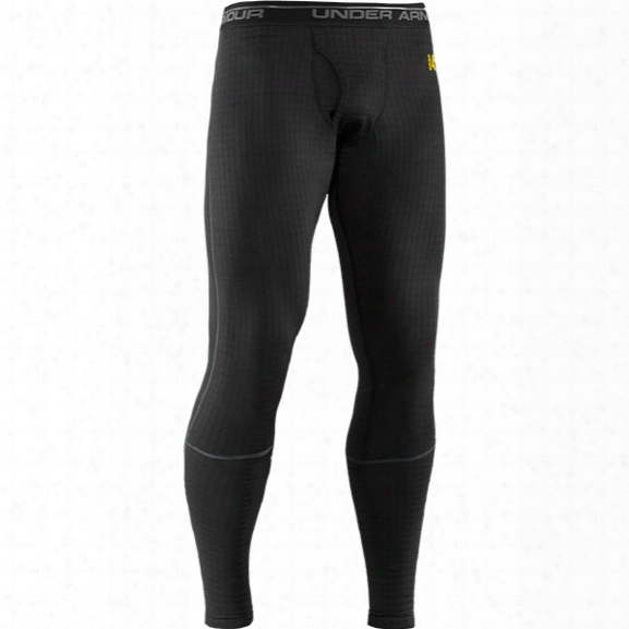 Under Armour Base 4.0 Legging, Black/school Bus, Small - Black - Male - Excluded