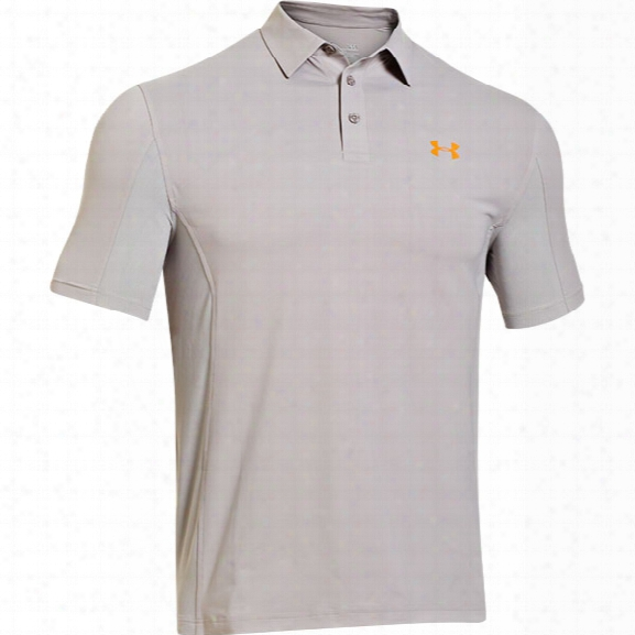Under Armour Iso Chill Polo, Boulder/mandarin, Medium - Boulder - Male - Excluded