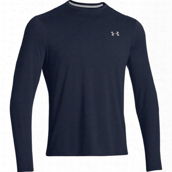 Under Armour Ls Tech Tee 2.0, Cadet/aluminum, 2x-large - Silver - Male - Excluded