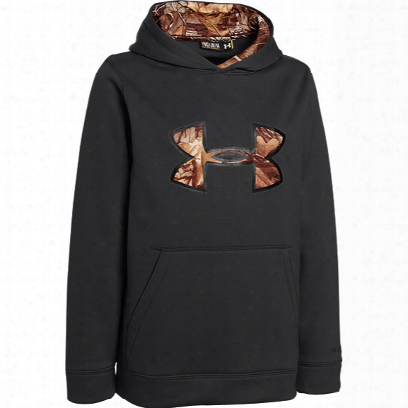 Under Armour Youth Storm Caliber Hoodie, Black/realtree Ap-xtra/battleship, Large - Black - Male - Excluded
