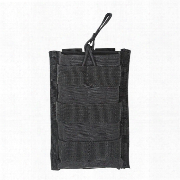 Voodoo Tactical M4/m16 Open Top Single Mag Pouch With Bungee System, Black - Black - Unisex - Included