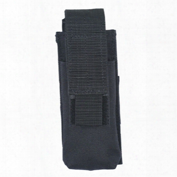 Voodoo Tactical Single Mag Pouch, Black - Black - Unisex - Included