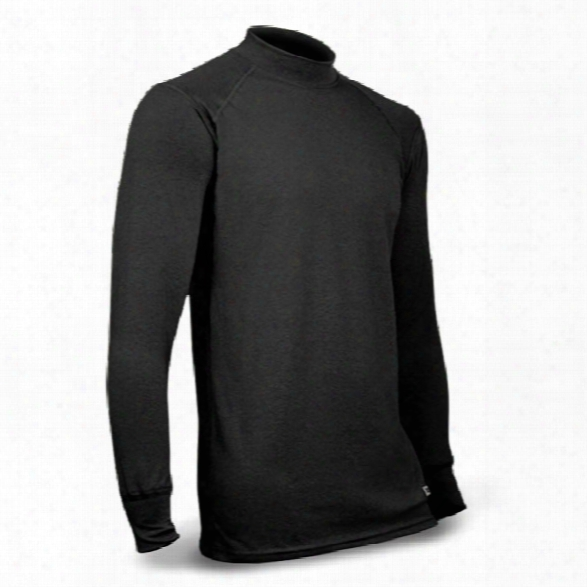 Xgo Phase 3 Tactical Ls Mock Crew, Black, Large - Silver - Male - Included