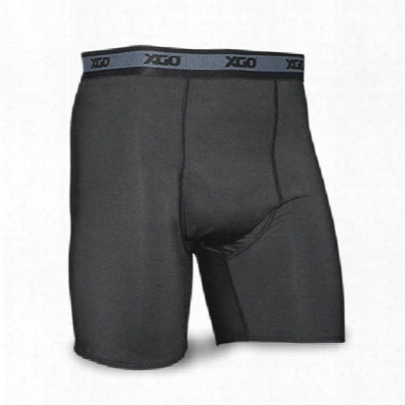 Xgo Power Skins Compression Boxer Brief, Black, Medium - Black - Male - Included