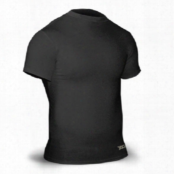 Xgo Power Skins Comp Ression Ss Crew, Black, Medium - Black - Male - Included