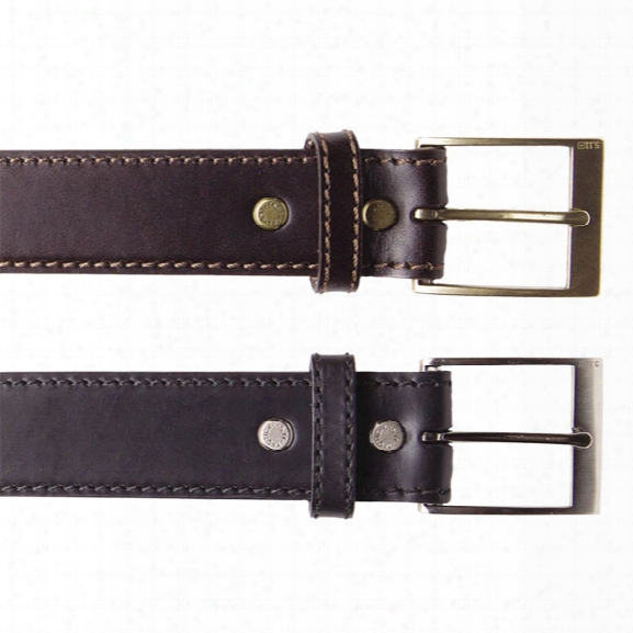 """5.11 Tactical 1.5"""" Plain Leather Casual Belt, Black, Xx-large - Brown - Male - Excluded"""