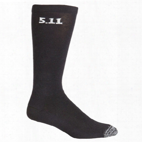5.11 Tactical (3pk) 9 Inch Socks, Black, Large - Black - Unisex - Excluded