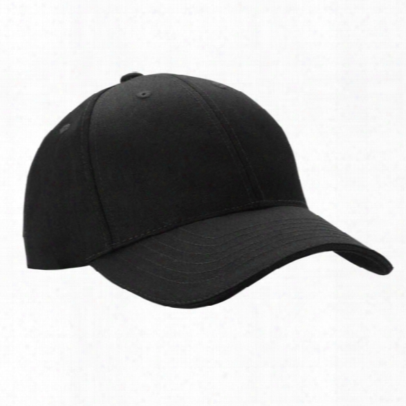 5.11 Tactical Adjustable Uniform Hat, Black, One Size - Black - Male - Excluded