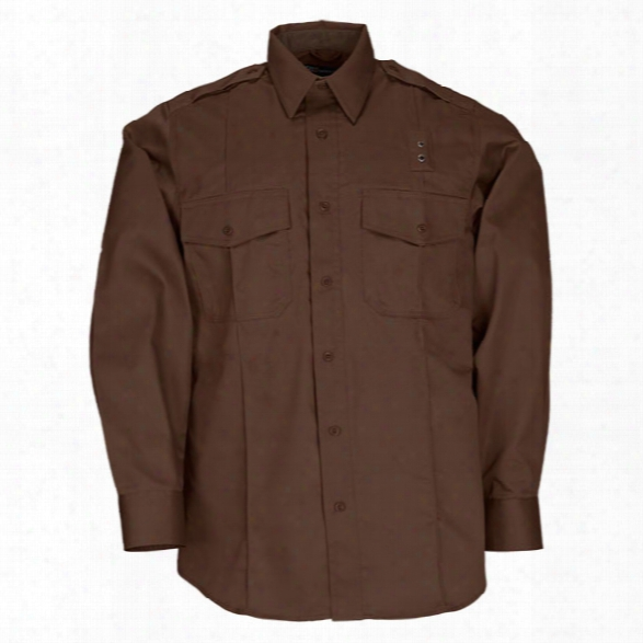 5.11 Tactical Class A Taclite Pdu Ls Shirt, Brown, 2x-large Tall - Brown - Male - Excluded