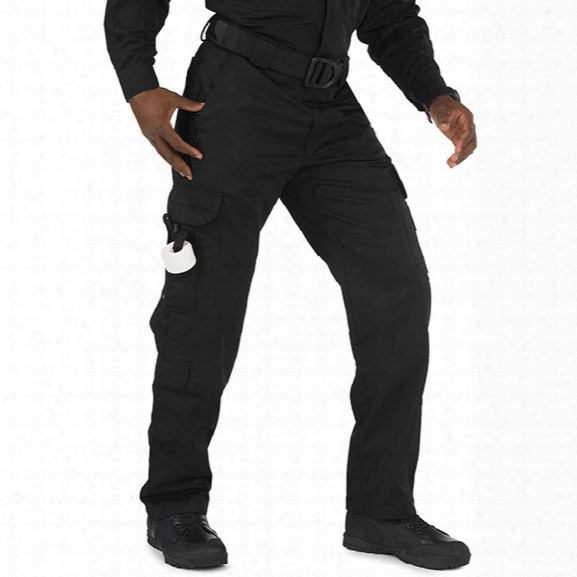 5.11 Tactical Ems Pants, Men, Poly/ Cotton Twill, Black, 32/34 - Black - Male - Excluded
