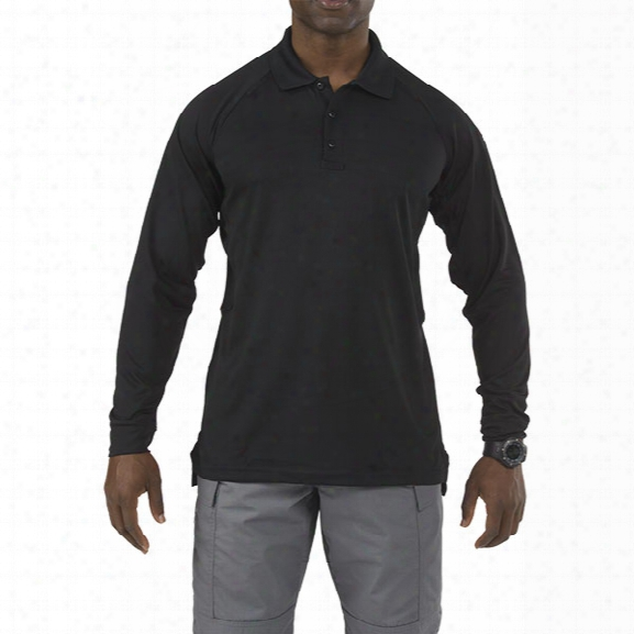 5.11 Tactical Long-sleev Eperformance Polo, Black, Xx-large - Black - Male - Excluded