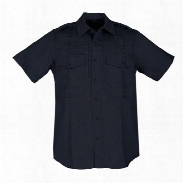 5.11 Tactical Men's Pdu Taclite Class B S/s Shirt, Midnight Navy, Lg Regular - Blue - Male - Excluded