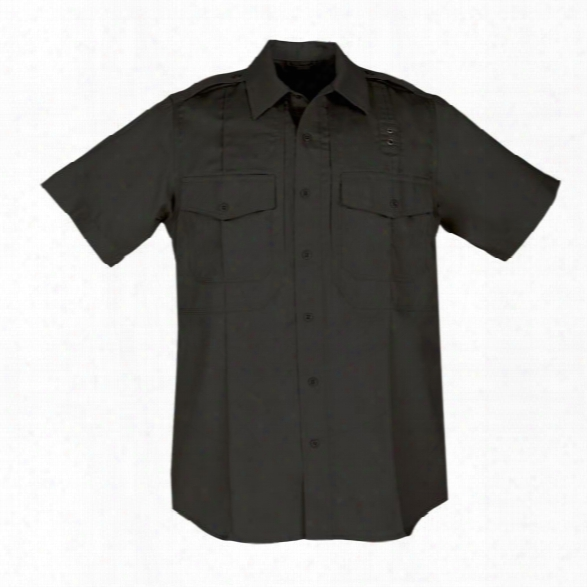 5.11 Tactical Mens Pdu Twill Class B Ss Shirt Black 2xl Reg - Black - Male - Excluded
