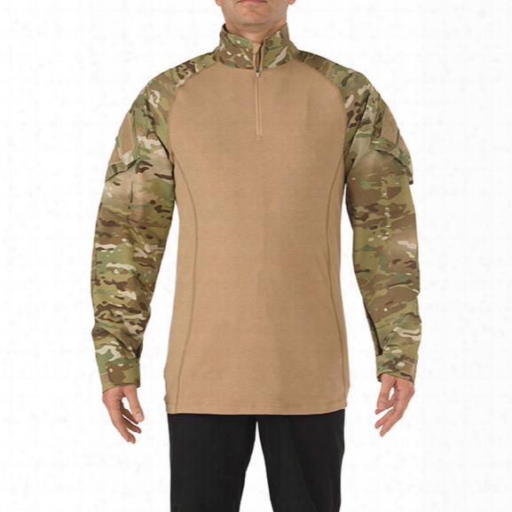 5.11 Tactical Multicam Tdu Rapid Assault Shirt, 2xl - Camouflage - Male - Excluded