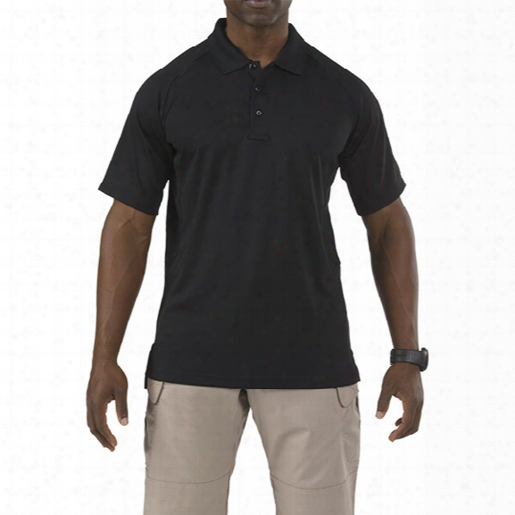 5.11 Tactical Performance Ss Polo, Black, 2xlt - Black - Male - Excluded